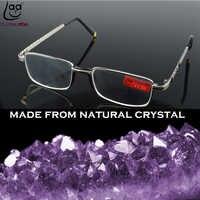 = Clara Vida = dos piezas llanta completa de cristal Natural de aleación cómodo almohadilla nasal gafas de lectura + 1 + 1,5 + 2 + 2,5 + 3 + 3,5 + 4