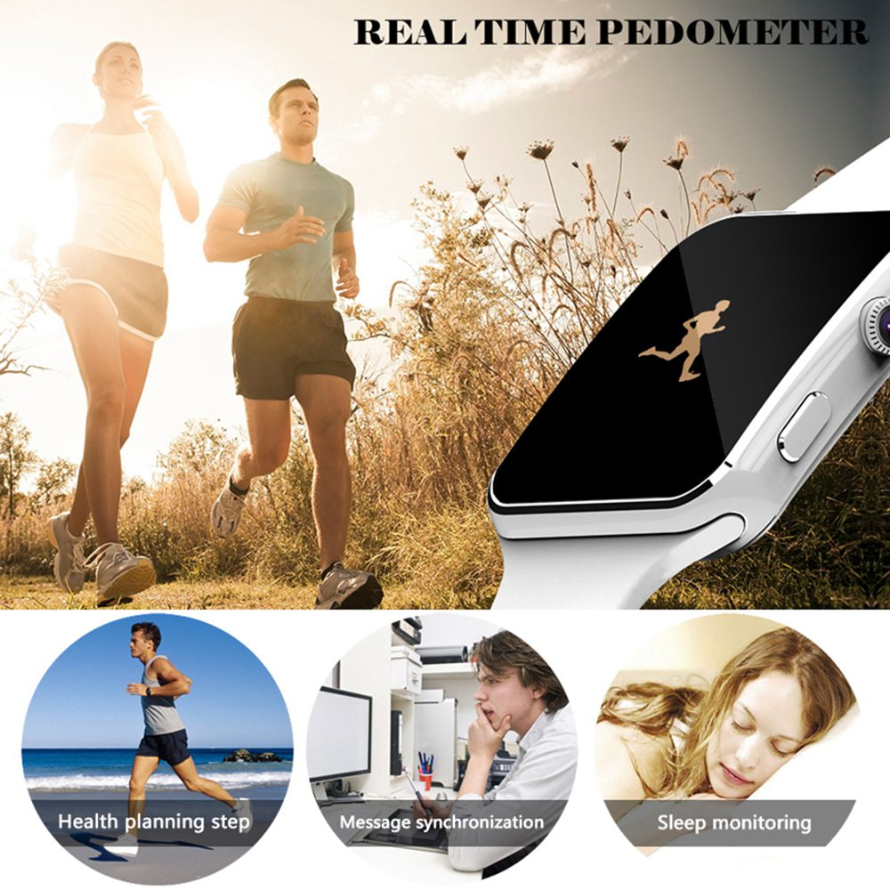 X6 Smart Watch Support SIM TF Card h Camera Smartwatch Bluetooth Dial/with Camera Touch Screen For iPhone Xiaomi Android IOS 1