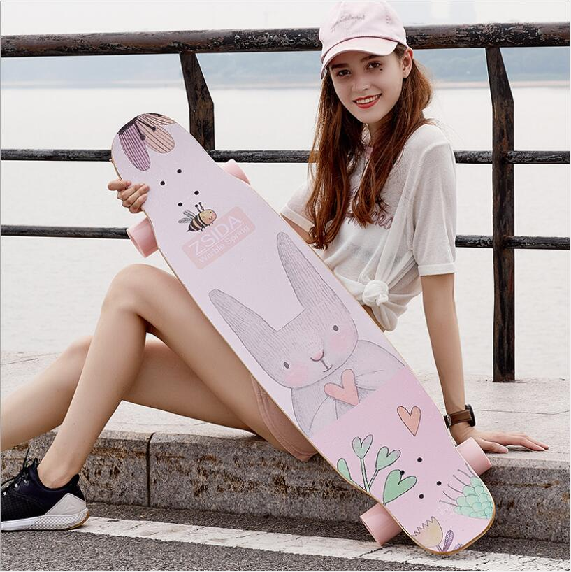 Free Shipping 118CM ProSkate Board Canadian Maple Longboard Skateboard Cruiser Four Wheels Street Deck Waveboard Balance Board