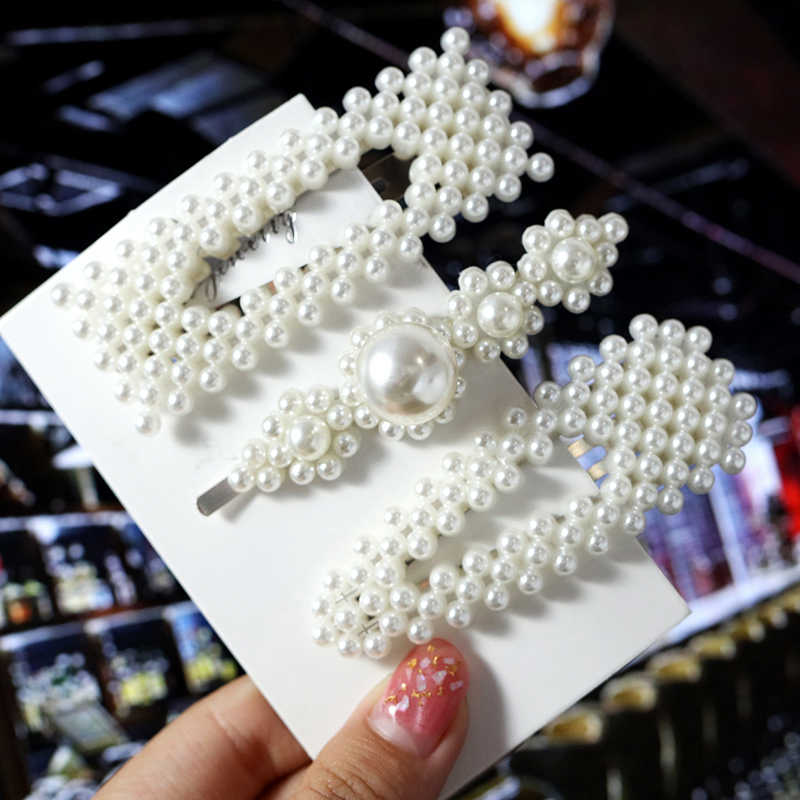 ZOSHI 2019 Pearl Hair Clips For Women Girls Silver Bowknot Hairpins Set Fashion Female Hair Jewelry Korea Wedding Elegant Gifts