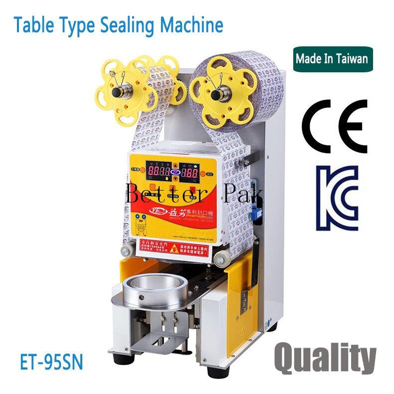 ET 95SN стол типа автоматическая крышка, машина для герметизации швов для плащей, молочный напиток запайщик стаканов, PE, PP, Бумага сублимационн