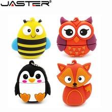 JASTER cute penguin owl fox pen drive cartoon usb flash pendrive 4GB/8GB/16GB/32GB U disk animal memory stick gift