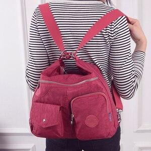 Image 5 - 女性のショルダーバッグ防水ナイロン女性スリングメッセンジャーバッグ女性トートクロスボディ女性のハンドバッグ