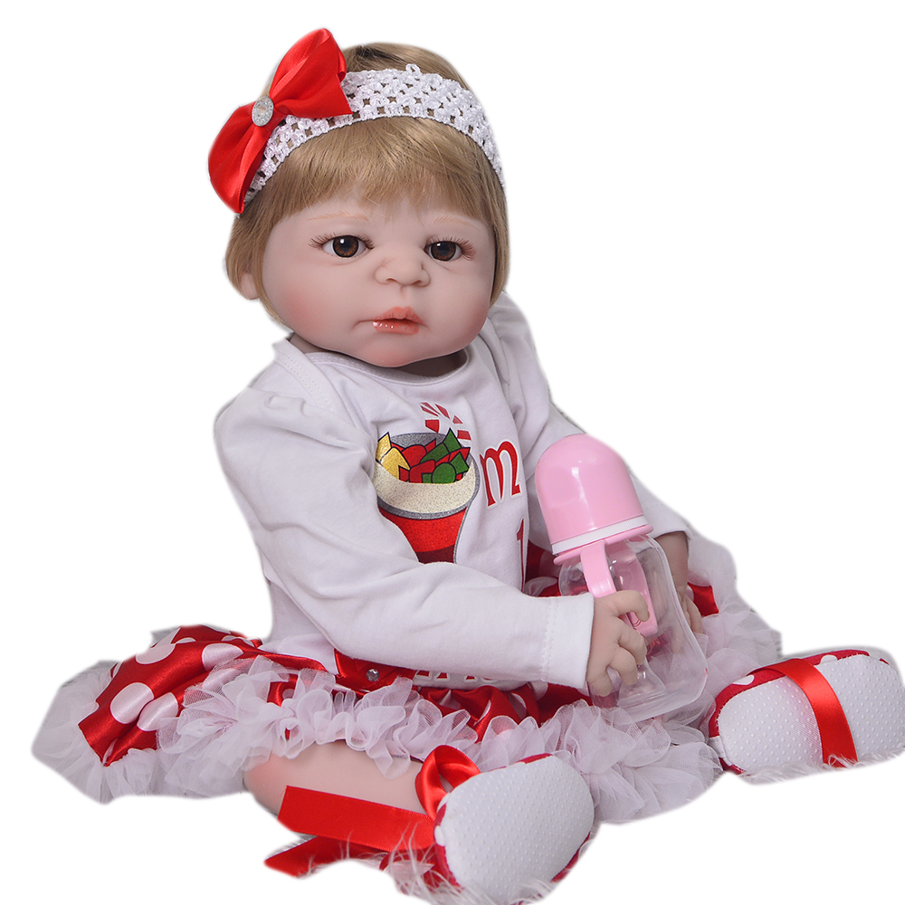 Full silicone reborn baby dolls  toys 2357cm real baby newborn girl doll gift boneca bebes reborn corpo de silicone inteiroFull silicone reborn baby dolls  toys 2357cm real baby newborn girl doll gift boneca bebes reborn corpo de silicone inteiro