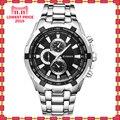 Nueva Marca de Cuarzo Reloj de los amantes Relojes Hombres de Las Mujeres se Visten de Cuero Relojes de Vestir Relojes de Pulsera Relojes Casuales de La Moda 8023
