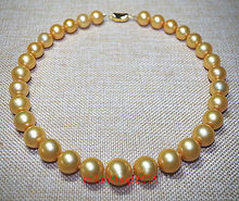 Natural Golden Pearl Necklace