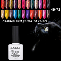10ML 3D Magnet UV Gel Color Magnetic Cat Eyes Gel Nail Polish Soak Off LED Lacquer Gel Nail Varnish 72 Colors CNDSE