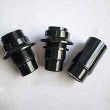 10 Uds. CE adaptador de Bases de lámpara E14 4A 250W bombilla soporte de lámpara colgante rosca Edison casquillo Vintage negro 250V