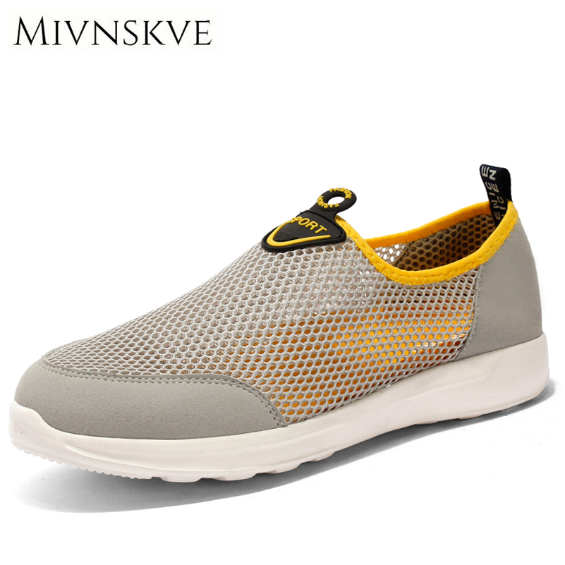 MIVNSKVE Summer Mesh Breathable Men Casual Shoes Spring Super Light Flats Shoes Lace Up Men Shoes Zapatillas Deportivas 39-44 2017 new summer breathable men casual shoes autumn fashion men trainers shoes men s lace up zapatillas deportivas 36 45