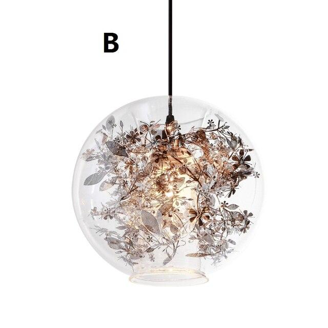 Moderne Hanglamp Vintage Lampen Fr Wohnzimmer Glas Ball Abajur Pendelleuchte Esszimmer Suspension Leuchte Loft Lampe Neue