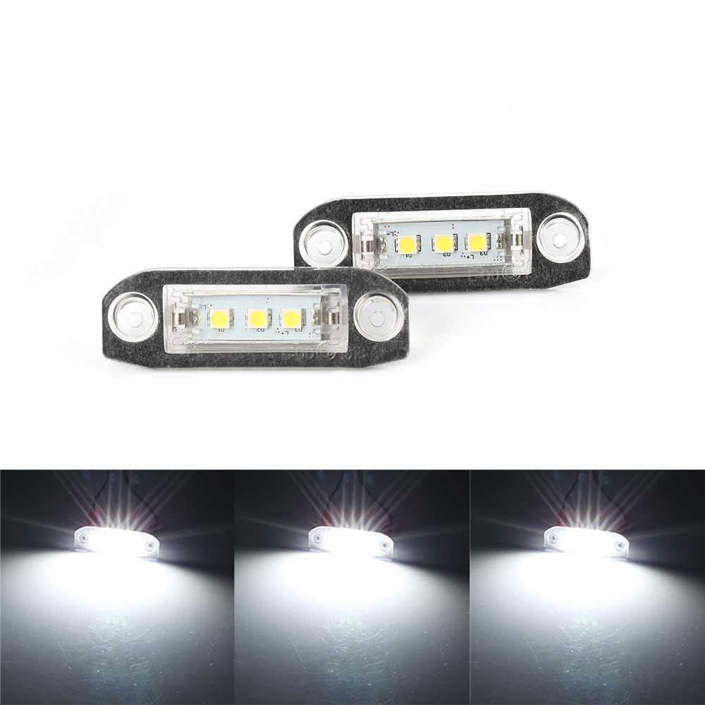 2Pcs Canbus LED License Plate Light For Volvo S80 XC90 S40 V60 XC60 S60 C70 V50 XC70 V70 White Car Styling Number Lamp-in License Plate from Automobiles & Motorcycles