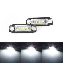 2Pcs Canbus LED 번호판 빛 볼 보 S80 XC90 S40 V60 XC60 S60 C70 V50 XC70 V70 화이트 자동차 스타일링 라이센스 번호 램프