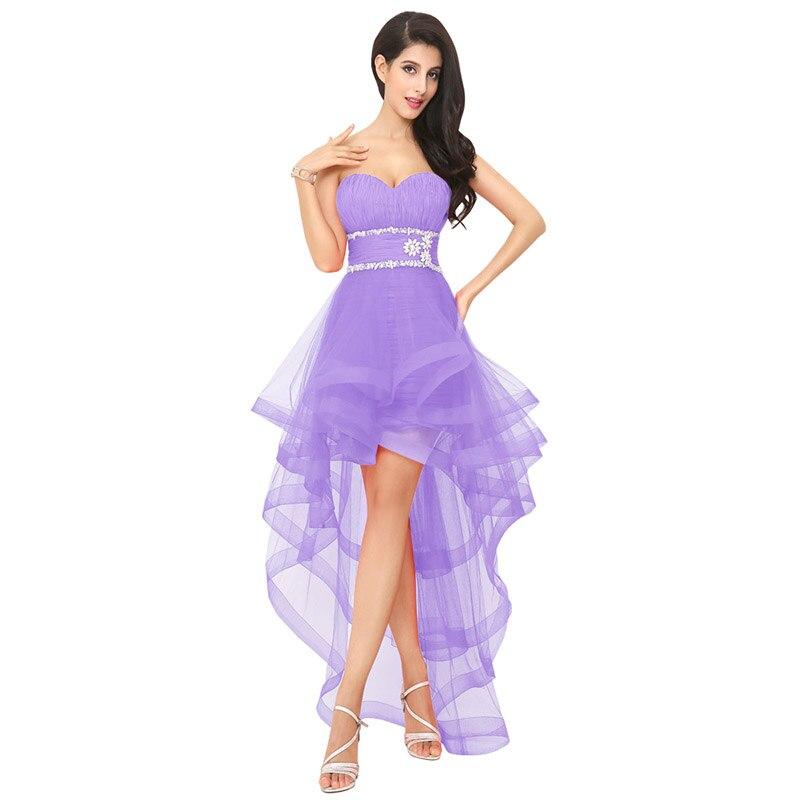 Encantador Vestidos De Novia De Alta Bajo El Dobladillo Colección de ...