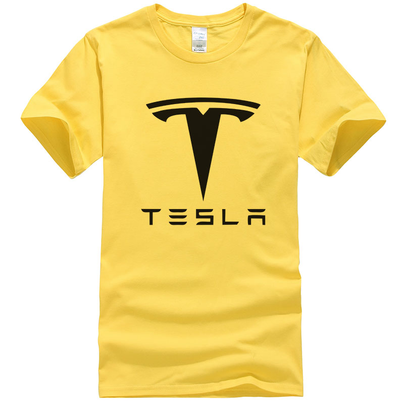 New Tesla Men T Shirts Short Sleeve Round Neck Ringer Letter Printed Cotton Male Tees Casual Boy T-shirt Tops Many Colors T134