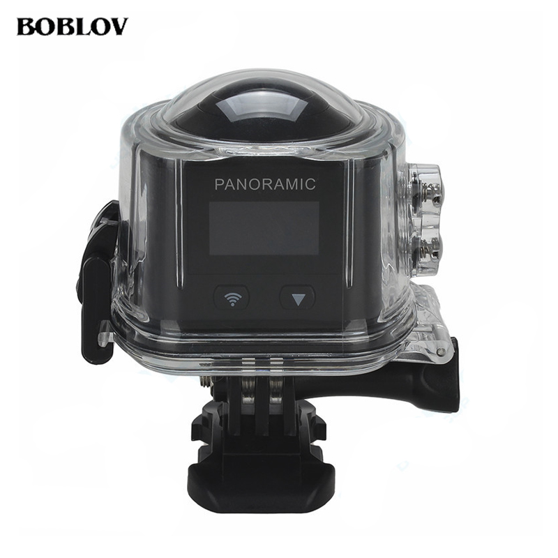 BOBLOV X6S 360 Panorama Camera Wifi 2448*2448 Sport Action Camera VR Mode 3D Video Camera With Extra Battery