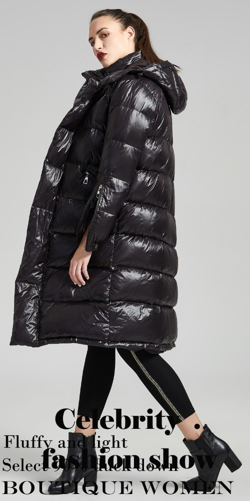 5eb4ad8ddb2 Eva Freedom Brand down coats 2018 winter new arrival down Jacket woman  hooded long winter thick loose down coat for women 189011 ...