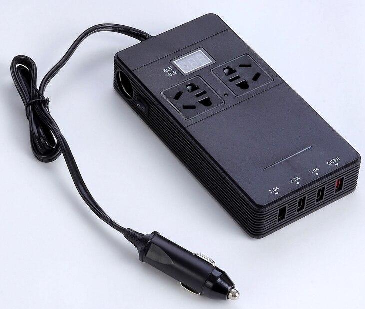 Автомобильный инвертор 12 В до 220 В Мощность конвертер QC3.0 Быстрая зарядка Инвертор зарядное устройство USB
