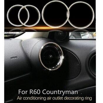 Mini Landsmann Zubehör   Luxus Kristall 4 Teile/satz Auto Air Outlet Zubehör Für Mini Cooper Countryman R60 R61 R55 R56 Interior Styling