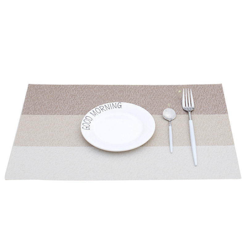2Pcs Coasters Table Mat Placemat Hand-woven Thick Table Pad Heat-insulation Mats&Pads for Home Hotel Restaurant Decor
