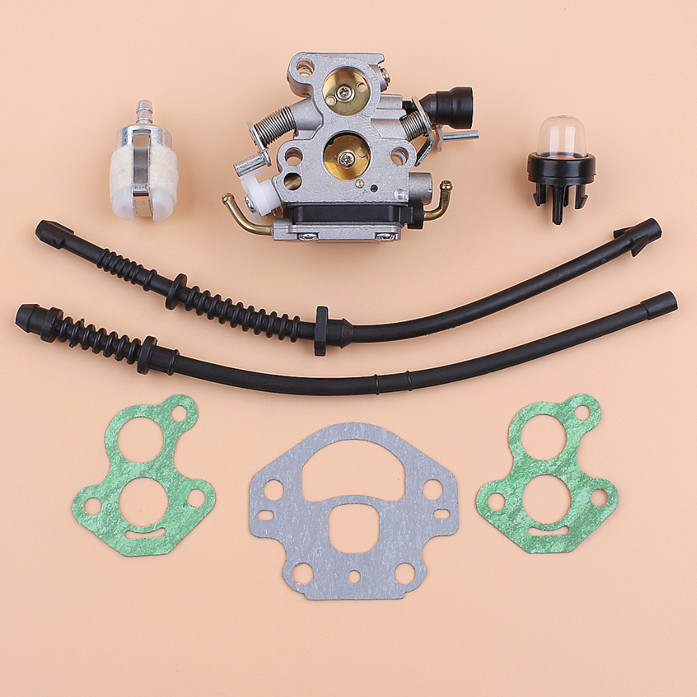 Carburetor Gasket Fuel Hose Filter Kit For Husqvarna 435 440 435E 440E Jonsared CS410 CS2240 Chainsaw Zama C1T-EL41A