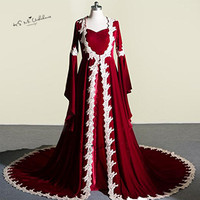 Kaftan Abaya Burgundy Muslim Evening Dresses Velvet Arabic Turkey Prom Dresses Long Sleeve Vestidos De Festa