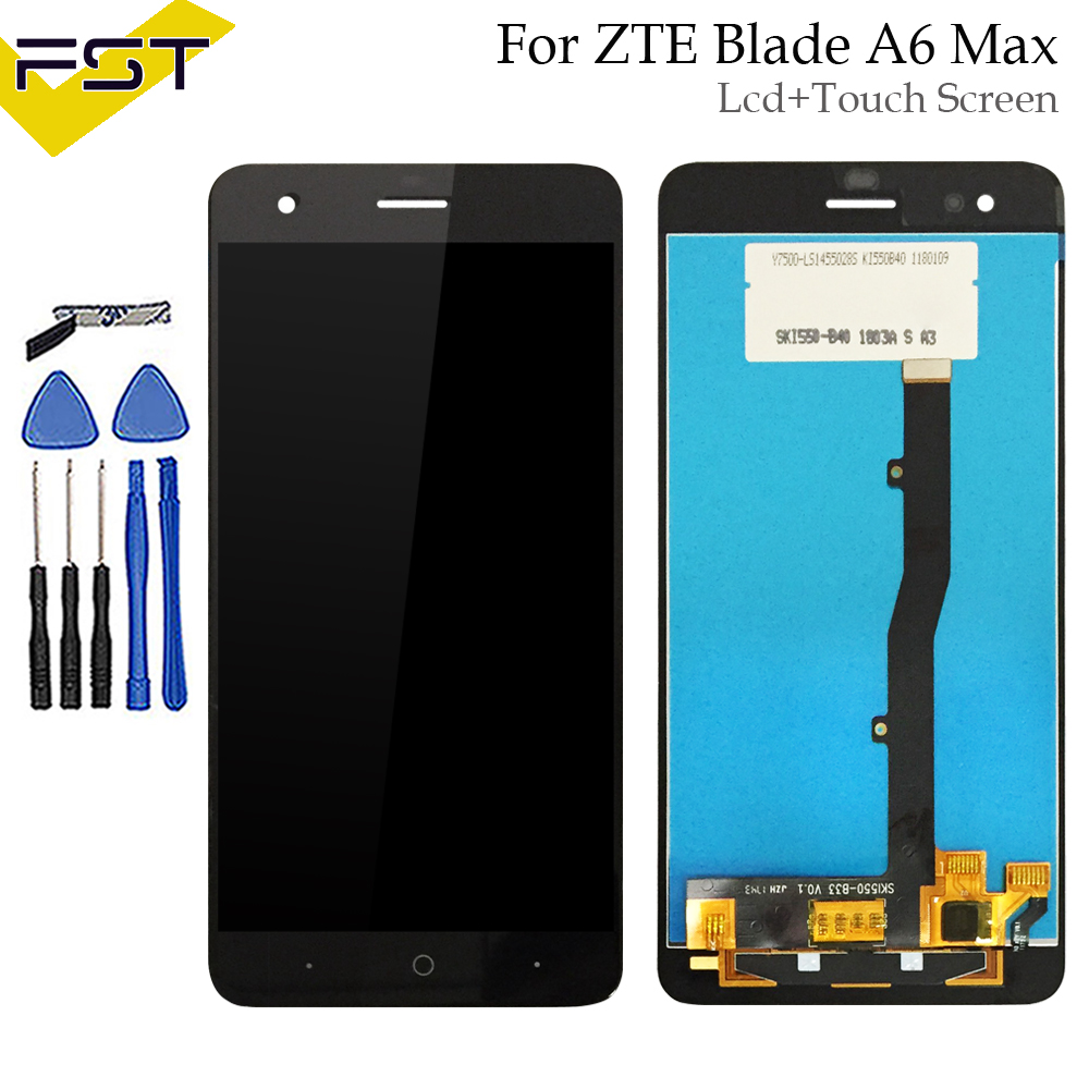 For ZTE A6 Max LCD Touch Screen Panel Glass Display Digitizer Panel Glass Assembly Parts For ZTE A6 Max LCD BlackFor ZTE A6 Max LCD Touch Screen Panel Glass Display Digitizer Panel Glass Assembly Parts For ZTE A6 Max LCD Black