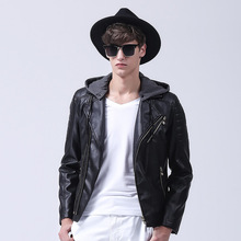 Leather Jacket Men Turn-down Collar Jaqueta De Couro Masculina Pu Mens Leather Jackets Veste Cuir Homme Warm Winter Jacket Mens