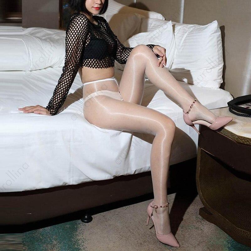 Glossy pantyhose fetish