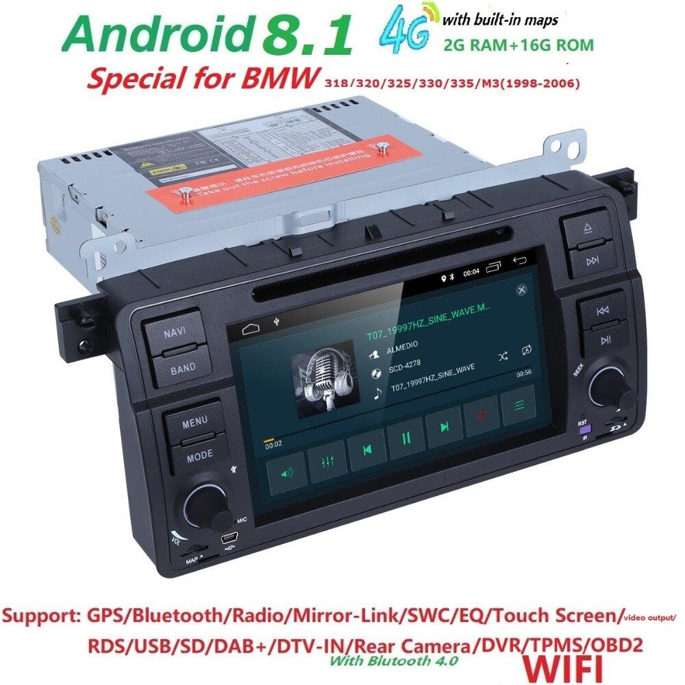 Android 8.1 Quad core HD 1024 * 600 pantalla 2 DIN Car DVD GPS Radio - Electrónica del Automóvil - foto 4