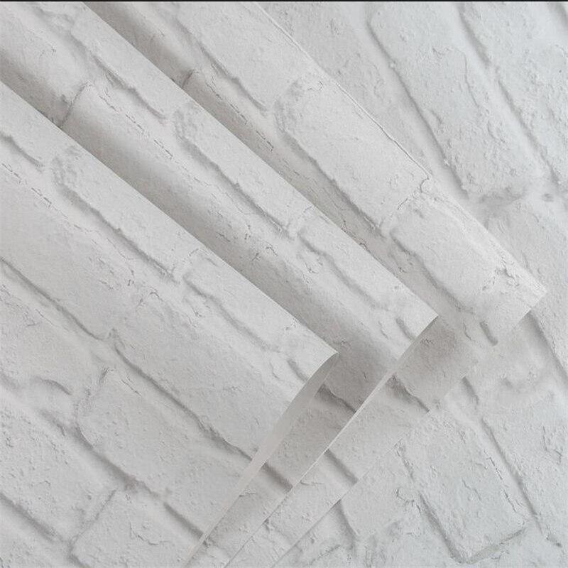 beibehang White brick wallpaper culture brick living room clothing store wallpaper Nordic style retro pattern Papel de parede beibehang papel de parede 3d stereo wall paper imitation brick pattern clothing behang store bedroom luxury adhesive wallpaper