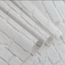 beibehang White brick wallpaper culture living room clothing store Nordic style retro pattern Papel de parede