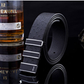 2016 New Casual fashion brand designer men belt luxury High quality belts for men women leather belts black crocodile grain