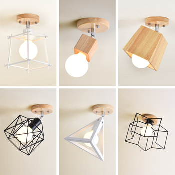 Kinkiety ścienne Oryginalne Drewniane Minimalistyczny Osobowości Oświetlenie Do Salonu Korytarz Wejściowy Schody Szatnia Okna I Balkon Lampy