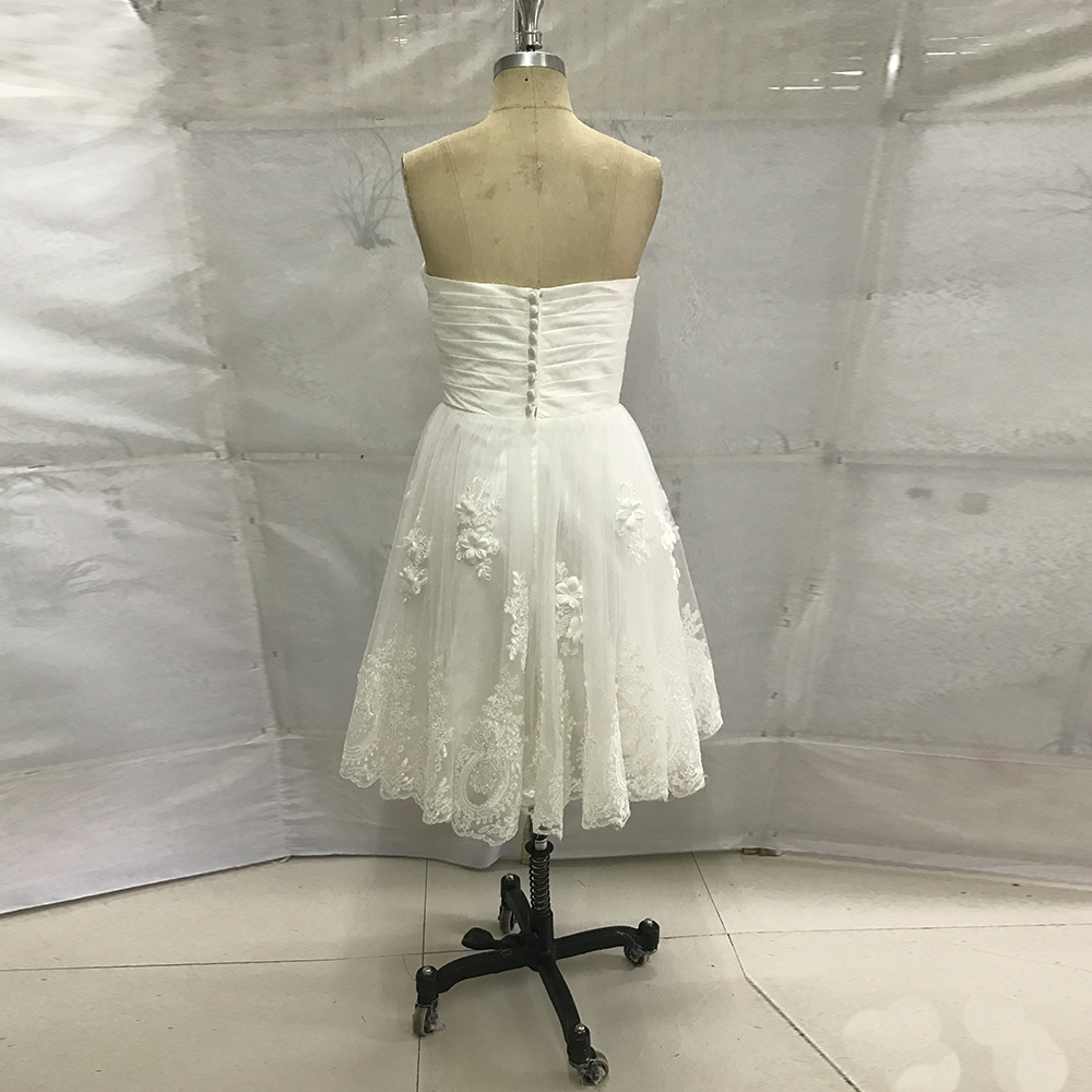 White Vintage Wedding Dress Short Lace Bridal Dresses 2017 China Cheap  Wedding Gowns Flowers Knee Length Vestido de Noiva Curto-in Wedding Dresses  from ... 89bd1e8260ee