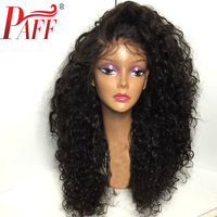 PAFF Curly Wig 250% Density Lace Front Human Hair Wigs Natural Color For Women Brazilian Remy Hair Lace Wig Pre Pluck Hairline