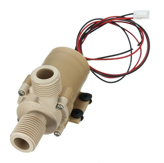 4d127a8f712 High Temperature Resistance DC 12V Solar Hot Cooling Water Circulation Pump  Brushless Motor Water Pump Food Grade+ AC Adapter