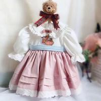 2019 Autumn Spanish Cute Dress For Girl Cartoon Embroidery Vintage Princess Dress Modis Kids Clothes vestidos Y1600
