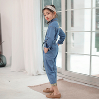 Fashion Jeans Suits for Girl 10 12 years Long Sleeve Denim Blouse for Little Girl Teenage Girls Clothing