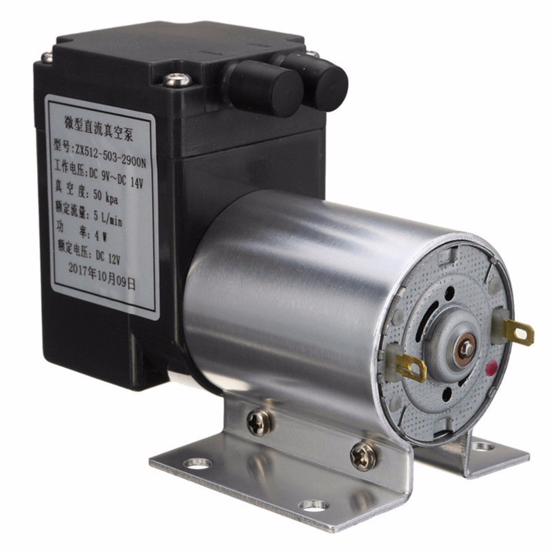 Durable 80kpa Mini Electric Vacuum Air Pump Negative Pressure Suction 5L/min DC 12V For Home Appliance