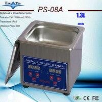 110 فولت/220 فولت PS-08A 60 واط مؤقت رقمي وسخان بالموجات فوق الصوتية الأنظف 1.3L للأجزاء الصغيرة مع سلة مجانية