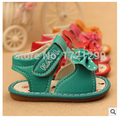 baby moccasins Soft Non-slip Sole Candy Color Red Orange Rose Purple Butterfly-knot girls sandals Cute Baby Girl Toddler Shoes
