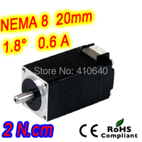FREE SHIPPING Nema8 20x33mm Stepper Motor Model 8HS13 0604S 1 8 Deg 0 6 A 2