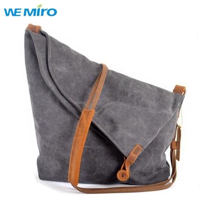 2016 Women Canvas Bag Ladies Large Grey Cotton Bag Crossbody Bags For Women  Vintage Leather Handbags Unisex Bag Men cd76176910