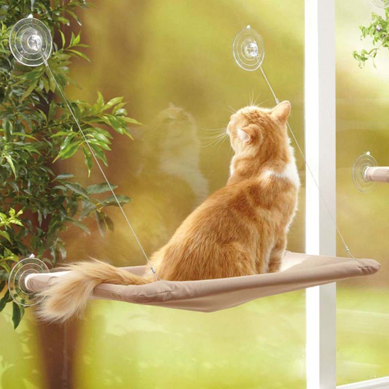 Load bearing 20KG Cat Basking Window Hammock Perch Cushion Bed Hanging Shelf Seat Great Multiple Cats of Household pet product