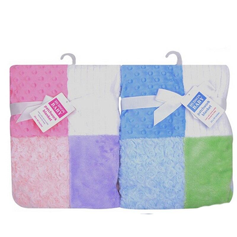 Amis adorables Super doux polaire bébé couverture nouveau-né panneaux de Multi-Fabric12 Manta infantile bébé produit bébé literie hiver