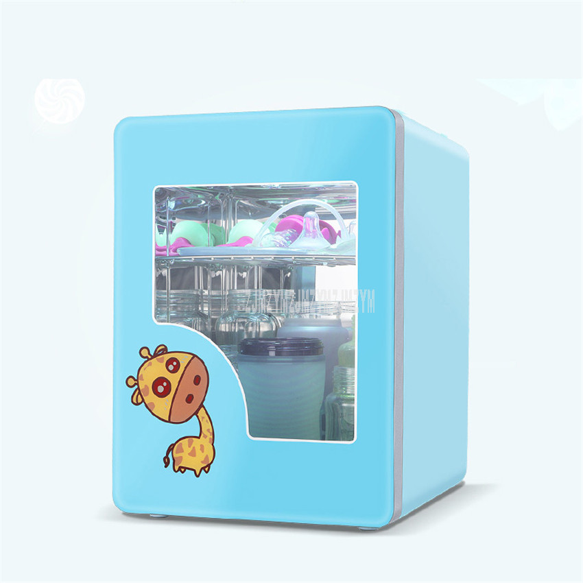 8L Baby Milk Bottle UV Sterilizer Cabinet Disinfector With Drying Function Ultraviolet Baby Feeding Bottle Disinfection J-1010A