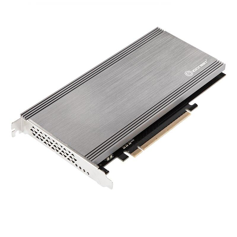 Ajouter une carte double Port M.2 NVMe à PCIe 3.0x16 régulateur de Bifurcation Support carte mère Non bifurcation ASMedia2824 puce