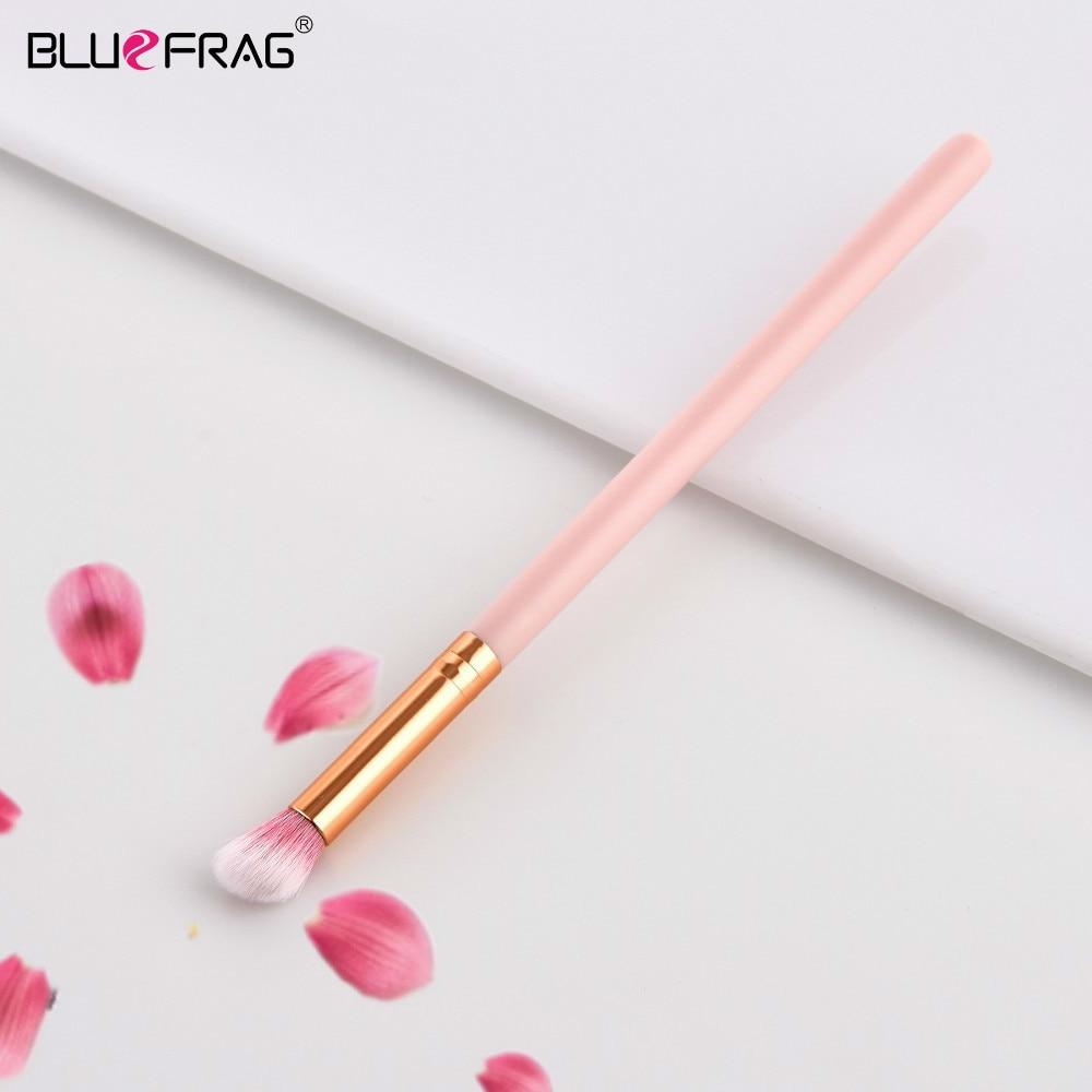 BLUEFRAG Small Eye Shadow Brush Synthetic Hair Eye Blending Makeup Brushes Pink Wooden Handle Make Up Brushes