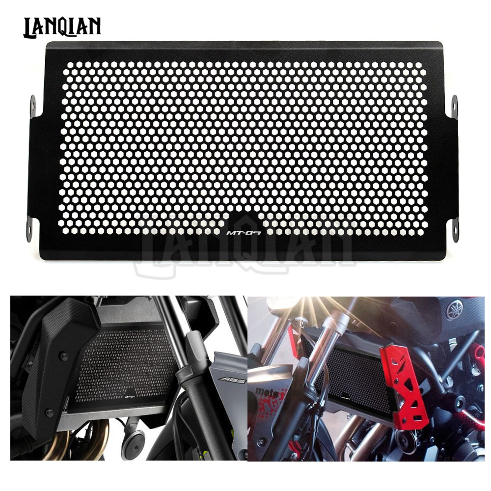 Free shipping Radiator Protective Cover Grill Guard For Yamaha FZ07 MT07 MT-07 2014-2016  XSR700 2016 Radiator Grille Guards motorcycle radiator grill grille guard screen cover protector tank water black for bmw f800r 2009 2010 2011 2012 2013 2014