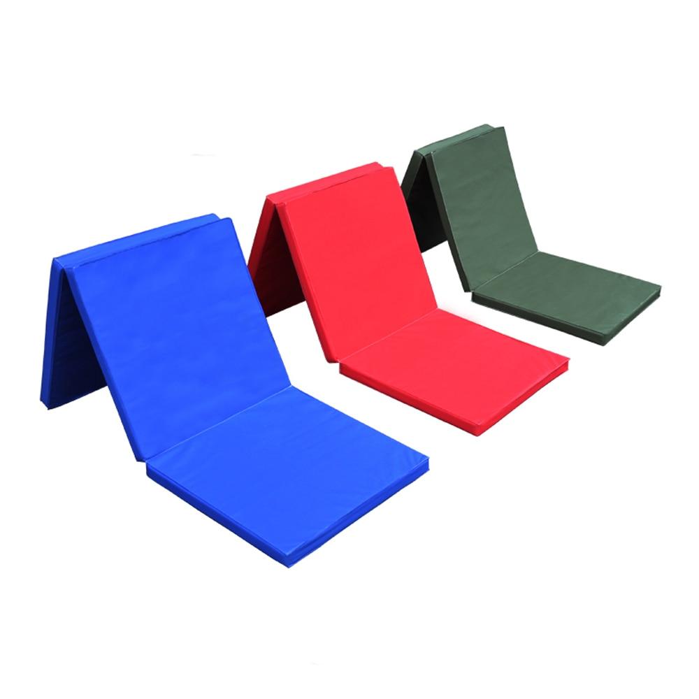 Thick Folding Panel Gymnastics Mat Gym Exercise Yoga Tri Mat Pad 180*60*5cm